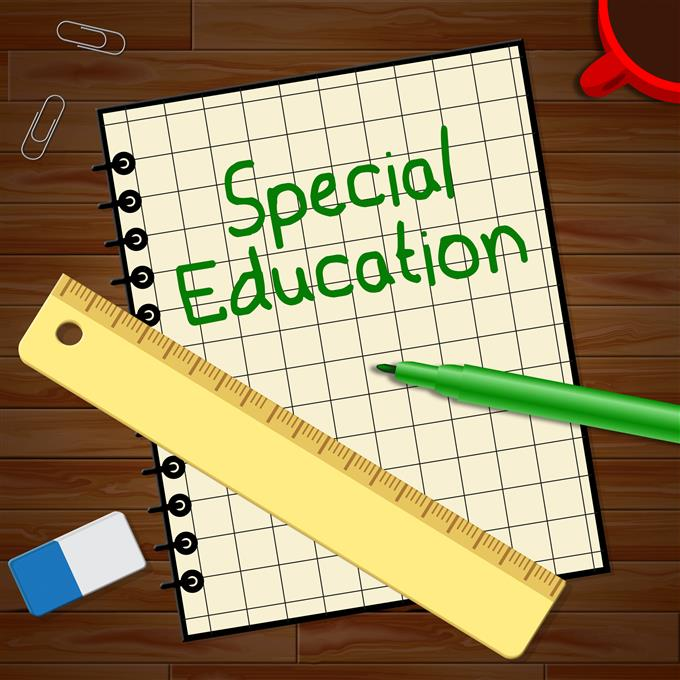 Special Education notebook, pens, ruler
