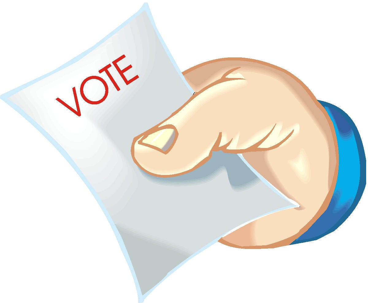 Voter absentee ballot applications available.