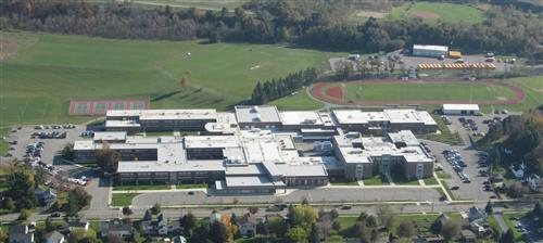 Aerial View of School Campus