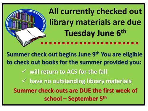 End of Year and Summer Check Out Dates