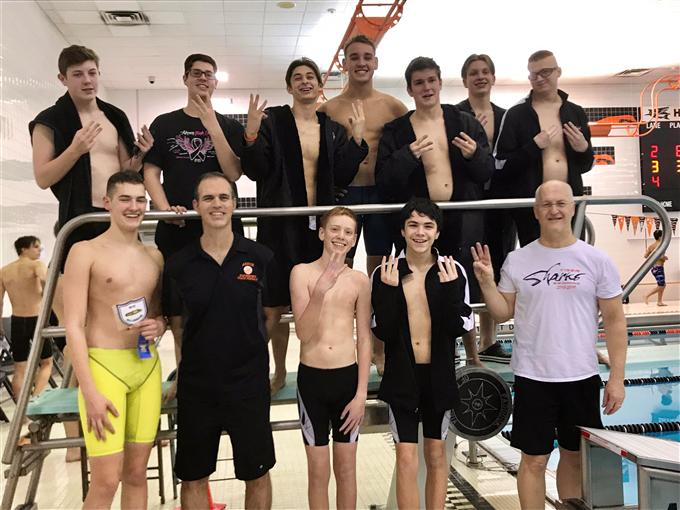 2019 Boys Swim Team